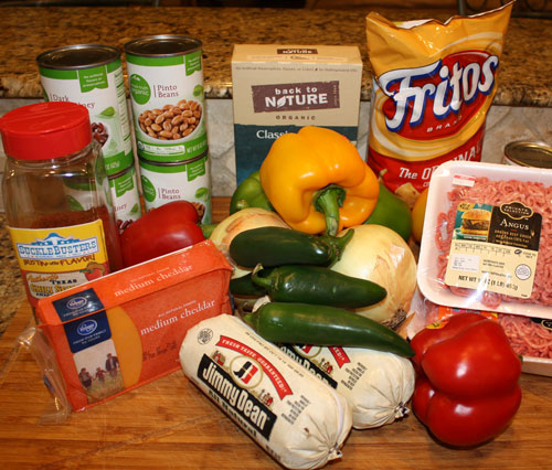Ingredients for Texas Chili