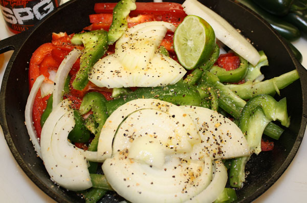 marinade vegetables for fajitas