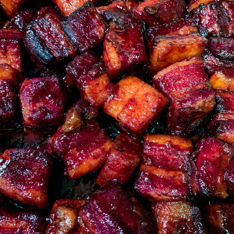 Finished Pork Belly Burnt ends