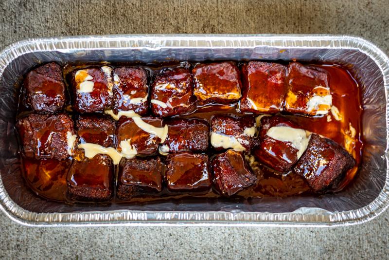 Sauced Pork Belly Burnt Ends